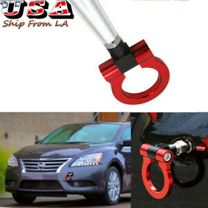 JDM Red Track Racing CNC Aluminum Tow Hook Ring For Nissan Sentra GT-R 370Z Juke