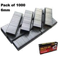 1000pc 6mm Staples Staple Gun Tacker Pack of 1000 Upholstery B3771
