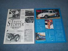 "1965 Volkswagen Bug Turbo Powered Article ""Traffic Stopper"""