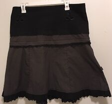 EUC Goth Punk Tripp NYC Black Polka Dot 2 Piece Mini & Full A-Line Lace Skirt XL