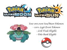 Pokemon Sun and Moon Ultra Sun and Moon Hidden Ability Venusaur Japanese Event
