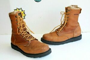 Vintage Wolverine Men's Boots #01519 Brown Leather. USA Made Size 12 D New Soles