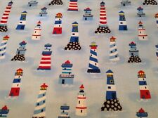 Fabric Lighthouses 4639, 1/2 yard Private Listing