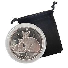 2008 Isle of Man - Burmilla Cat - Clad Proof Silver Coin
