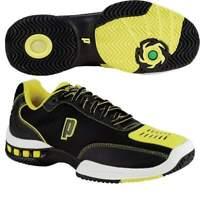 Prince Mens Black Yellow Rebel 2 LS Tennis Shoes [8P383084]