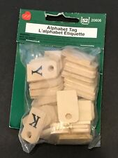 Wood Alphabet Tags 52 Pieces New 20606 Lara's Crafts Supplies NWT