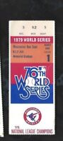 1979 World Series ticket Pittsburgh Pirates Baltimore Orioles Gm 1 Stargell HR