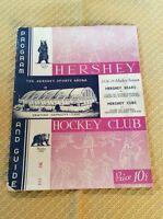 1938-39 Hershey Bears Hockey Club Program Vs Syracuse Stars
