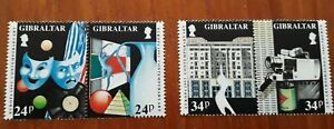 Gibraltar Stamps. 1993 Europa. Contemporary Art. Two se-tenant pairs. U/M.