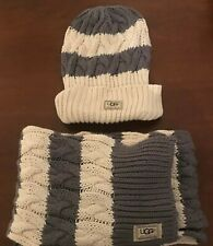 GENUINE UGG AUSTRALIA SCARF AND WOOLY HAT SET
