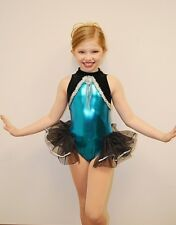 High Society Dance Costume Leotard with Backskirt Tap Ice Skating Child 6x7