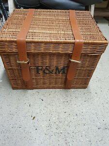 Authentic Large Fortnum And Mason F&M Picnic Hamper Basket Storage