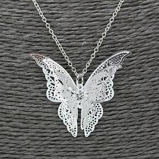 Mode Femme Collier Pendentif Papillon Strass Cristal Bijoux Cadeau Sans Chaine