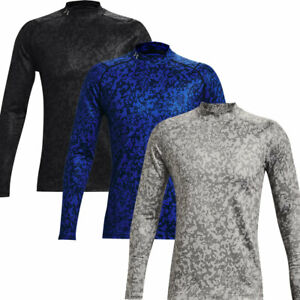 Under Armour ColdGear Infrared Printed Long Sleeve Wicking Golf Mock Baselayer