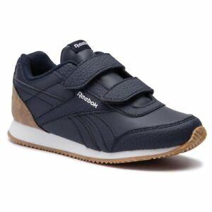 uk size 2.5 - reebok classic royal cl jog 2 trainers - dv4030