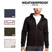 Weatherproof Vintage Men's Full Zip Sherpa Lined Fleece Hoodie Jacket VARIET G41
