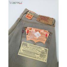 LEVI'S Jeans Levis 501 Tourterelle Délavé Original Coupe Regular Vintage Alte