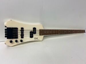 Cort Steinberger Edition Headless 4-String Right Hand Guitar- White