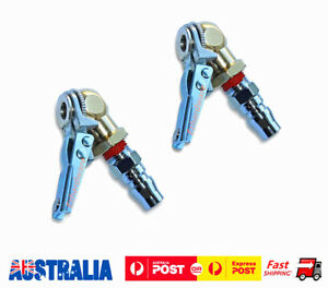 2PC TIRE CHUCK WITH VALVE STEM Lock On Clip Tyre Inflator Air Fittings Tools
