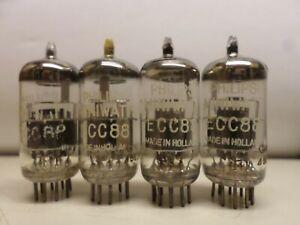 matched quad ECC88 / 6DJ8 from philips miniwatt .