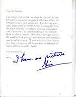 "Autographed Signed (""Gino"") Gino Marchetti Fan Letter w/coa jhaut"