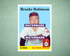 Brooks Robinson Baltimore Orioles 1958 Style Custom Art Card