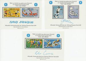 Frg / Berlin 1980 3 Various Farbsonderdrucke Bundesdruckerei Wasserzeichenpapier