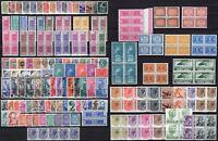 Repubblica - Lotto di 208 francobolli ordinari, 1945/90 - Nuovi (** MNH)