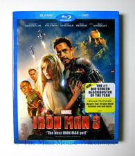 Disney Marvel Iron Man 3 Three on Blu Blu-ray and DVD Tony Stark Downey Paltrow