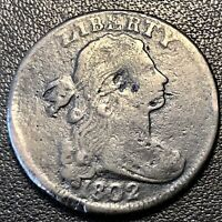 1802 Large Cent Draped Bust One Cent 1c Better Grade VF Details #17062