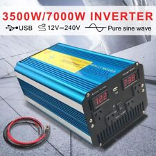 Pure Sine Wave Power Inverter 3500W / 7000W DC 12V TO AC 240V With LED DISPLAY