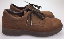 Rockport Mens 10 N NARROW Brown Nubuck Leather Lace Up Casual Shoes M3929