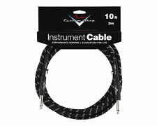 New Fender Custom Shop 10 Foot Black Tweed Instrument Guitar Cable! 10 ft Lead