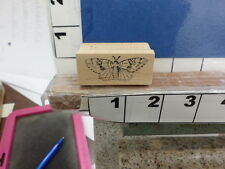 magenta butterfly small wing NEW rubber stamp 4w