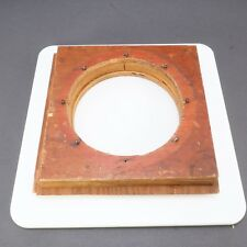 > Large Format 22.5x22.5cm Wooden Antique View Camera Lens Board 239