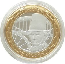 2006 Isambard Brunel Man Piedfort £2 Two Pound Silver Proof Coin
