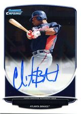 2013 Bowman Christian Bethancourt On Card Autographed Chrome Prospects Padres
