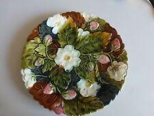 ancienne assiette BARBOTINE décor Fraises et fleurs