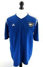 ADIDAS Mens T-Shirt Top L Large Blue Polyester Johnsburg Tennis