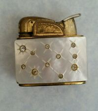 Cigarette  Lighter   Vintage Evans Mother Of Pearl White