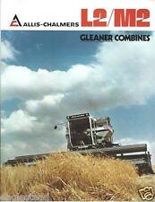 Farm Combine Brochure - Allis-Chalmers - L2 M2 - Gleaner - c1977  (F3507)