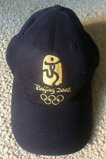 2008 Beijing Summer OLYMPICS Games BALL CAP - Black w/Gold Embroidery