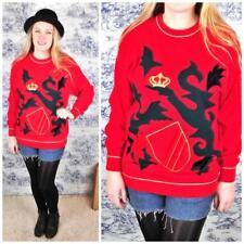 Abbigliamento e accessori vintage rosso acrilico