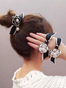 Camellia Vintage Fashion Casual Women Flower Elastic Hair Bands Tie Scrunchies