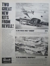 1965 PUB REVELL AUTHENTIC KITS FOCKE WULF CONDOR DOUGLAS PHANTOM II ORIGINAL AD