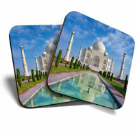 2 x Coasters - Indian Taj Mahal Building India Home Gift #15742
