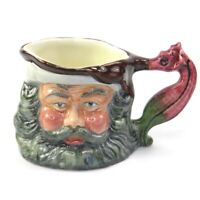 Vintage Olde Staffordshire character toby jug King Neptune hand painted
