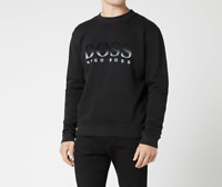 HUGO BOSS Men's Weaver Crew Neck Sweatshirt Jumper- Black