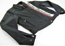 women's HARLEY DAVIDSON Lightweight Jacket COTTON NYLON M Medium BLACK TAN 97484