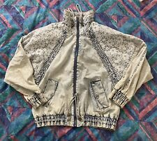 Vintage East West Jean Jacket Small Acid Wash 80's 90's Bomber Hip Hop Lace